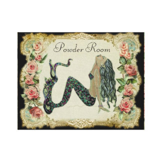 Powder Room Mermaid Canvas Print