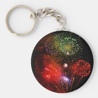 powder sky basic round button keychain