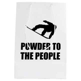 Powder Snow To The People Ski Medium Gift Bag
