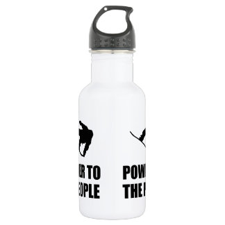 Powder Snow To The People Ski Water Bottle