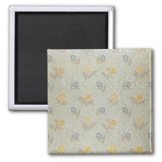 'Powdered' design (textile) 2 Inch Square Magnet