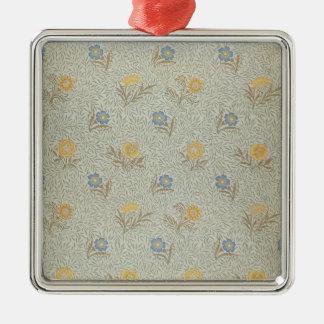 'Powdered' design (textile) Metal Ornament