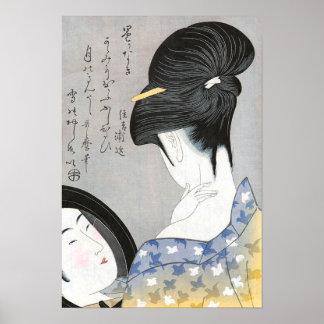 Powdering the Neck Kitagawa Utamaro Poster
