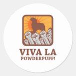 Powderpuff Classic Round Sticker