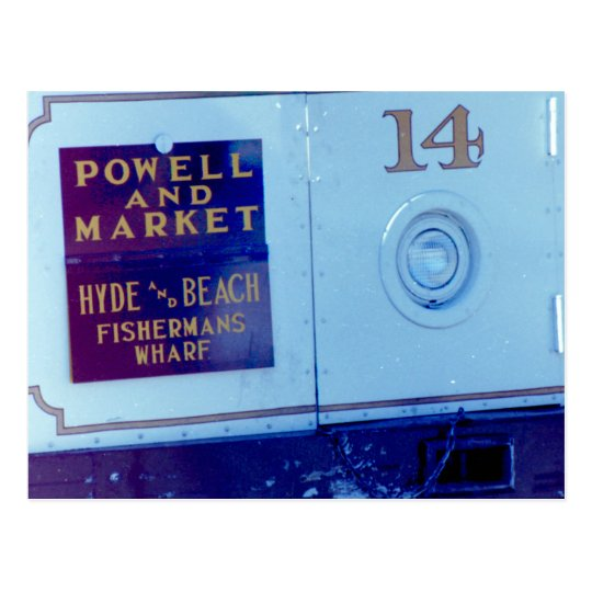 Powell and Market Street Cable Car Postcard