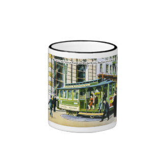 Powell and Market Streets, San Francisco, CA Ringer Mug