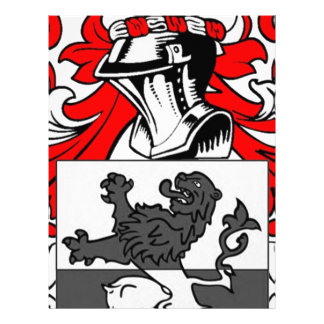 Powell Coat of Arms Letterhead Template