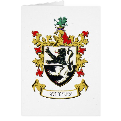 Powell Family Coat of Arms Card