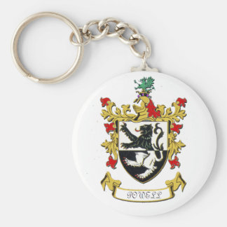 Powell Family Coat of Arms Keychain