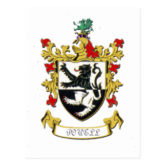Powell Family Coat of Arms Postcard
