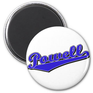 Powell in Blue 2 Inch Round Magnet