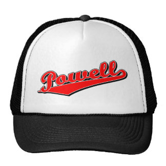 Powell in Red Mesh Hats