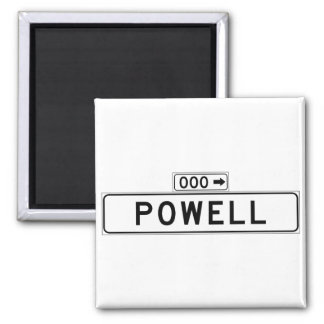 Powell St., San Francisco Street Sign 2 Inch Square Magnet