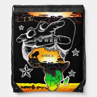 Power Africa Drawstring Bag