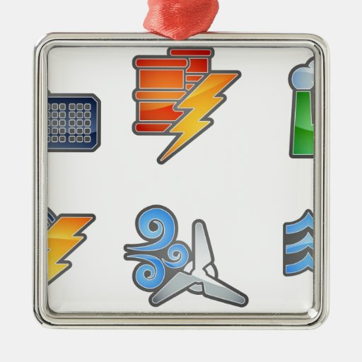 Power and Energy Icon Set Ornaments