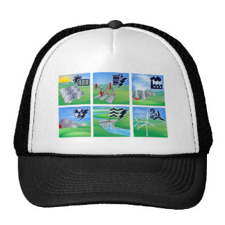 Power and Energy Icons Mesh Hat