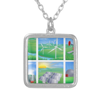 Power and Energy Sources Personalised Necklace