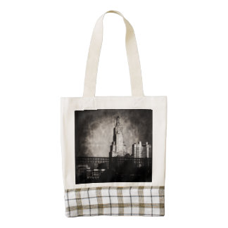 Power and Light Building, Kansas City, Grunge Zazzle HEART Tote Bag