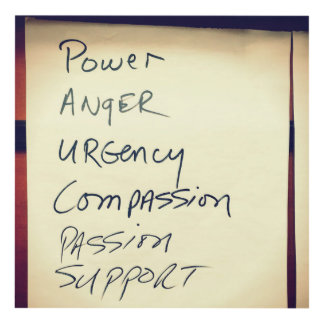 Power,Anger,Urgency,Compassion,Passion,Support Panel Wall Art