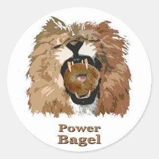 Power Bagel Classic Round Sticker