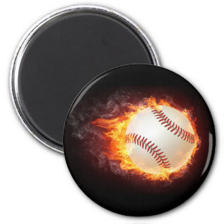 Power Baseball 2 Inch Round Magnet