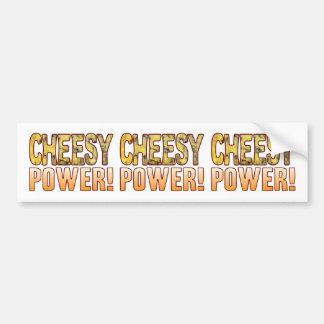Power Blue Cheesy Bumper Sticker