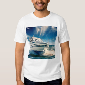 Power Boat Coming Into Chichester Harbour T Shirt