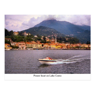 Power boat on Lake Como Post Cards