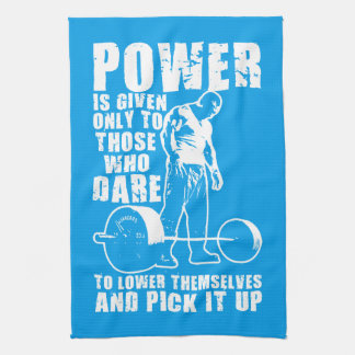POWER - Bodybuilding Motivational Hand Towels