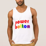 Power Bottom Gay Pide Rainbow Tank Top