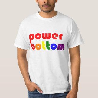Power Bottom Gay Pide Rainbow Tee Shirt
