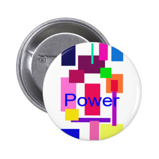 Power 2 Inch Round Button