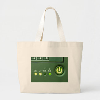 power button and indicator lights large tote bag