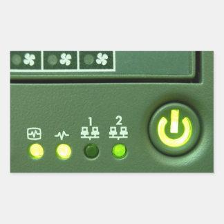 power button and indicator lights rectangular sticker