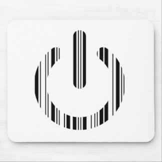 POWER BUTTON BAR CODE Power-Up Pattern Design Mouse Pad