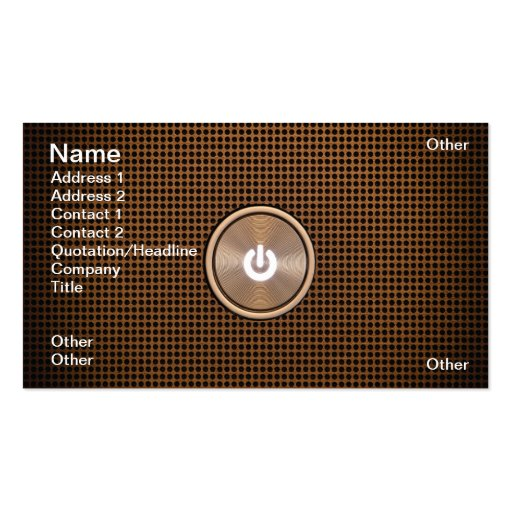 Power button Double-Sided standard business cards (Pack of 100)