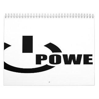 Power Button Wall Calendars