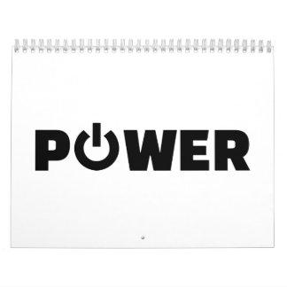 Power button calendar