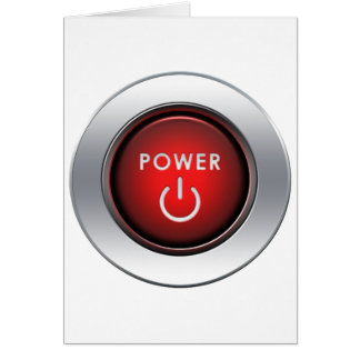 Power Button Greeting Cards