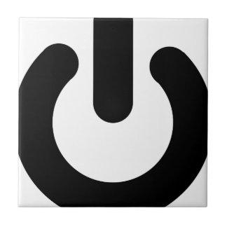 Power Button Ceramic Tile