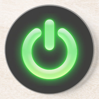 Power Button (Green) Coasters