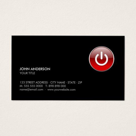 Power Button Hi-Tech business card