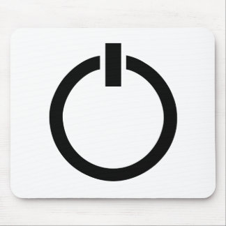 Power Button Icon Mouse Pad