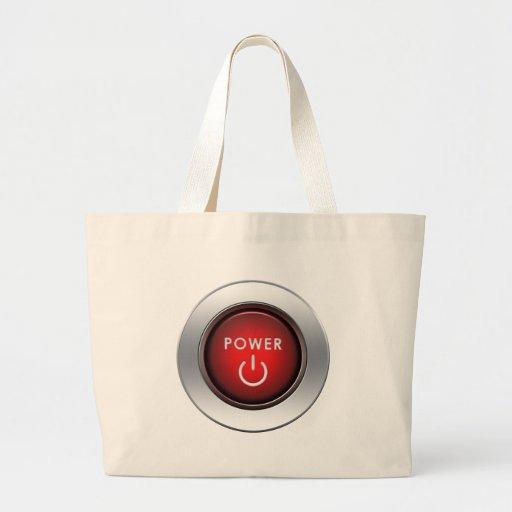 Power Button Jumbo Tote Bag