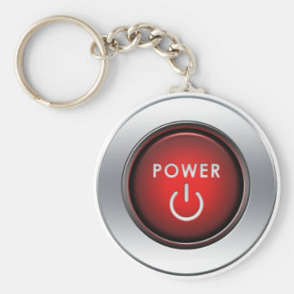 Power Button Basic Round Button Keychain