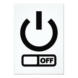 Power button off card