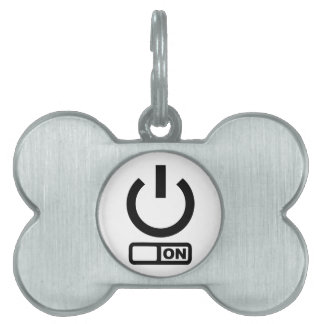 Power Button on Pet Tag