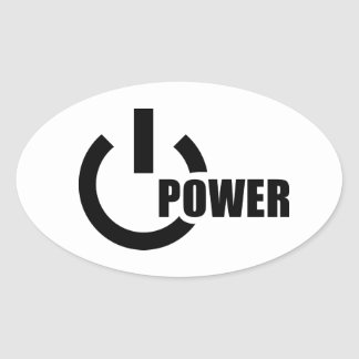 Power Button Oval Stickers