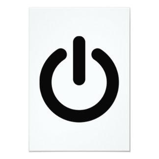 Power Button Symbol Card