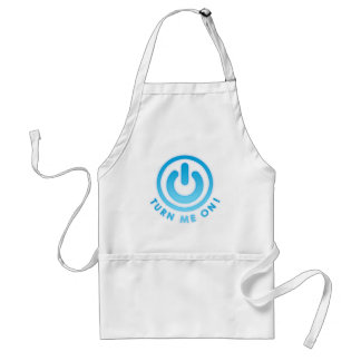 Power Button - Turn Me on Adult Apron